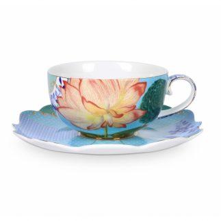סט 2 כוסות תה + תחתיות – ROYAL GREEN