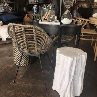 שולחן צד/סטול – WHITE WOOD