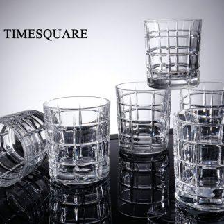שישיית כוסות וויסקי קריסטל – TIMESQUARE