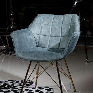כורסא – BARBARA ירוק +רגליים זהב