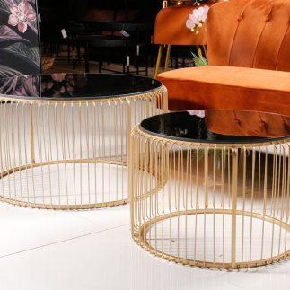 זוג שולחנות – TIFFANI זהב