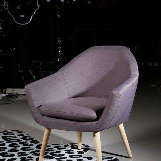 כורסא – ADELLE אפור סגלגל