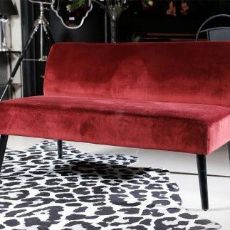 כורסא זוגית/מיני ספה – ALEXIS בורדו נועז