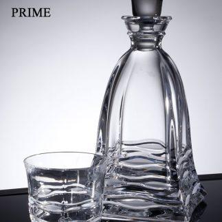שישיית כוסות וויסקי + דיקנטר קריסטל – PRIME