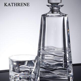 שישיית כוסות וויסקי + דיקנטר קריסטל KATHRENE
