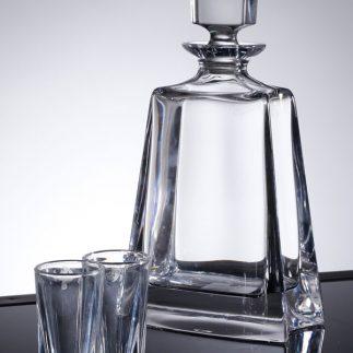שישיית כוסות שוט + דיקנטר קריסטל – KATHRENE