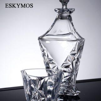 שישיית כוסות וויסקי + דיקנטר קריסטל – ESKYMOS