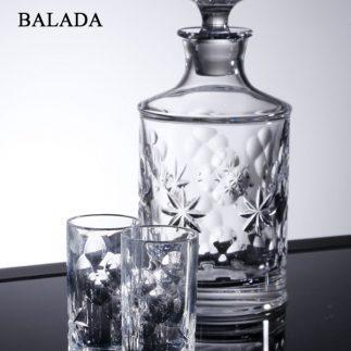 שישיית כוסות שוט + דיקנטר קריסטל – BALADA