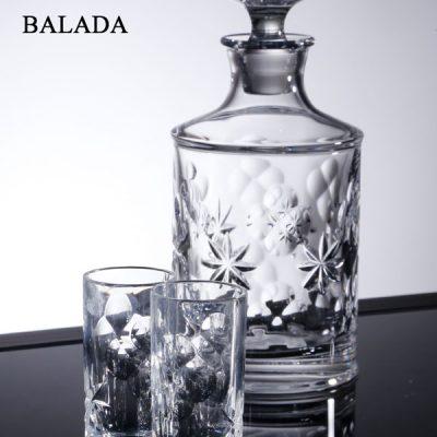 שישיית כוסות שוט + דיקנטר קריסטל - BALADA
