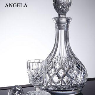 שישיית כוסות ליקר + דיקנטר קריסטל – ANGELA