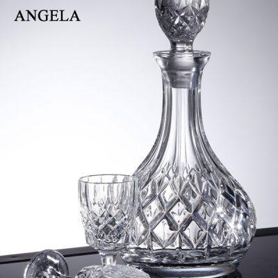 שישיית כוסות ליקר + דיקנטר קריסטל - ANGELA