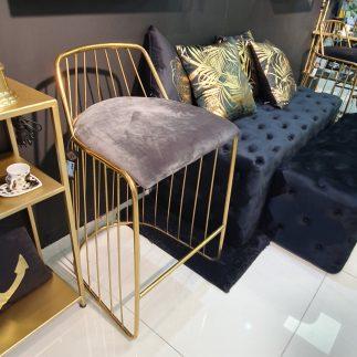כיסא בר – SUPERSTAR אפור