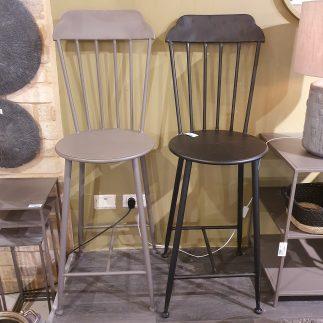 כיסא בר – BRASSERIE שחור/אפור