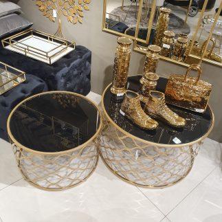 זוג שולחנות – ALICIA זהב
