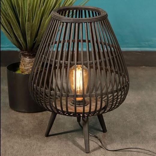 מנורה שולחנית - BAMBOO שחור