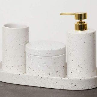 סט אמבט 4 חלקים – BETTY לבן שיש