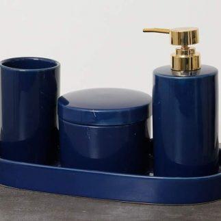 סט אמבט 4 חלקים – BETTY כחול רויאל