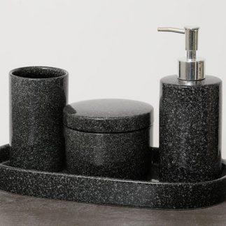 סט אמבט 4 חלקים – BETTY שחור שיש