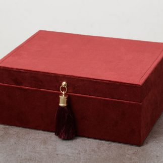 קופסת תכשיטים – VELVET בורדו