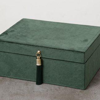 קופסת תכשיטים – VELVET ירוק