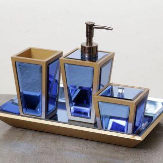 סט אמבט 4 חלקים – BERTIE כחול אוקיינוס