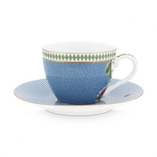 סט 6 כוסות אספרסו + תחתית – LA MAJORELLE כחול
