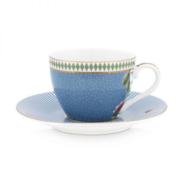 סט 6 כוסות אספרסו + תחתית - LA MAJORELLE כחול