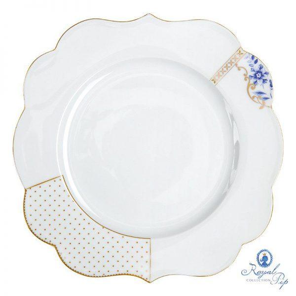 סט 6 צלחות עיקרית גדולה - ROYAL WHITE
