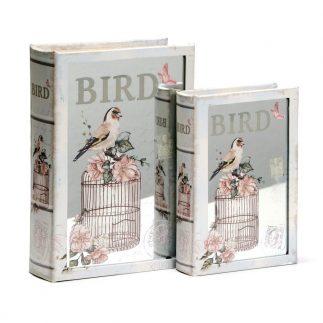 זוג ספרים לאחסון ונוי – PINK BIRD