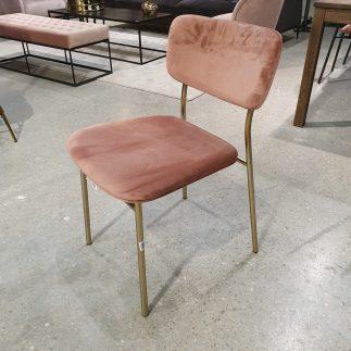 כיסא – ANTONIO ורוד + רגלים זהב