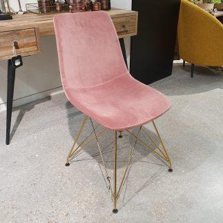 זוג כסאות – MILAN ורוד פודרה