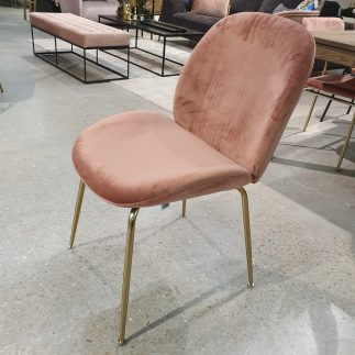 כיסא – MALDINI ורוד + רגליים זהב