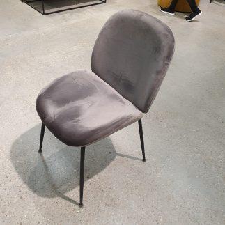 כיסא – MALDINI אפור + רגליים שחורות