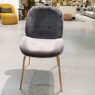 כיסא – MALDINI אפור + רגליים זהב