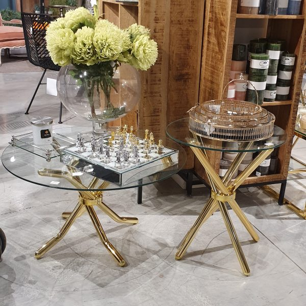 שולחן - OCTOPUS זהב גדול/קטן/זוג