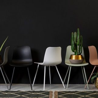 זוג כסאות – CANDY אפור/לבן/שחור/ורוד/טורקיז