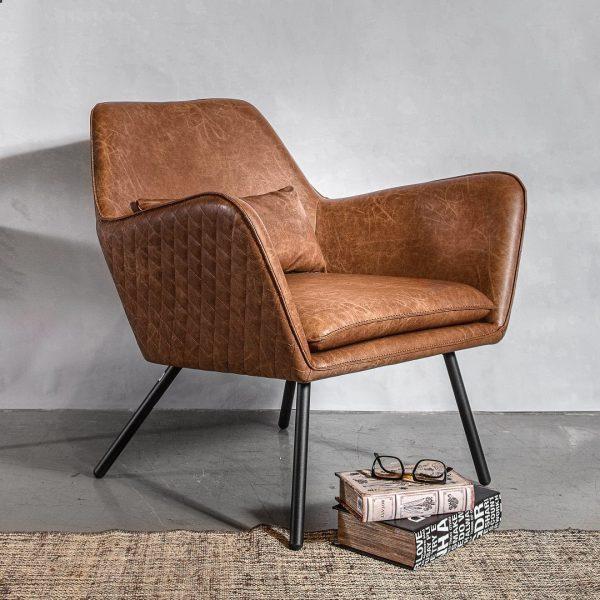 כורסא מבד דמוי עור  - WINCHESTER