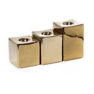 שלישיית פמוטים – TORO זהב/כסף