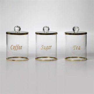 סט תה קפה סוכר – X-RAY זהב