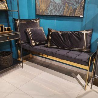 ספסל קטיפה – BANCO זהב – שחור