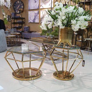 שולחן – DIAMANT גדול/קטן/זוג זהב