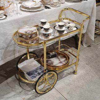 עגלת תה – ALISA זהב