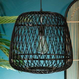 מנורת תקרה – BAMBOOK שחור