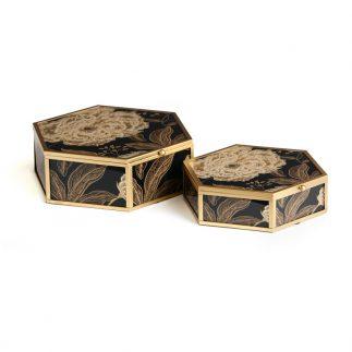 זוג קופסאות תכשיטים – FIFI משושה
