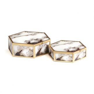 זוג קופסאות תכשיטים – FIZI משושה