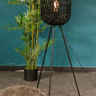 מנורה עומדת - COSTA RICA שחור גדול/קטן