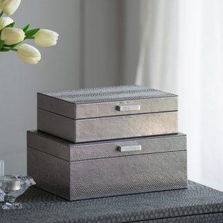 קופסת תכשיטים – SNAKESKIN גדול/קטן