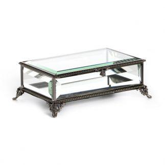 קופסת תכשיטים – MIMI שחור/כסף