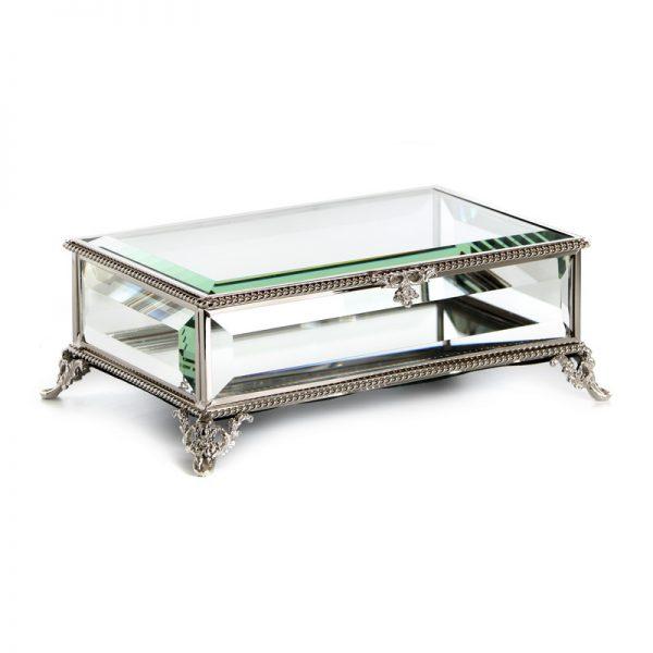 קופסת תכשיטים - MIMI שחור/כסף