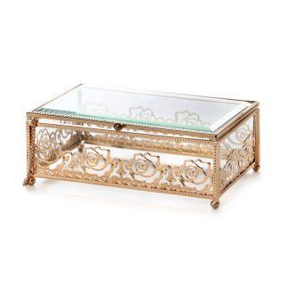 קופסת תכשיטים – SARI זהב/שחור
